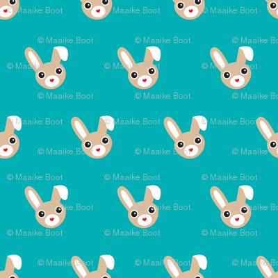 Cute bunny blue pattern for kids