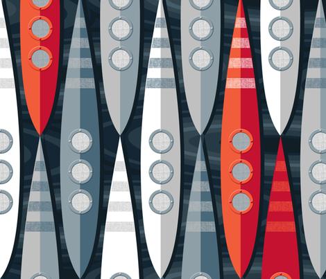 Space Pod fabric by spellstone on Spoonflower - custom fabric