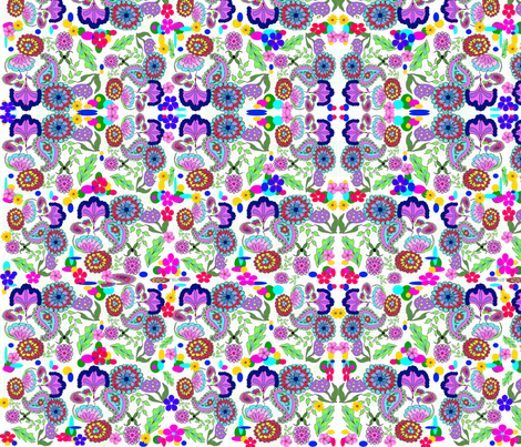 FloralCollageMix fabric by charldia on Spoonflower - custom fabric