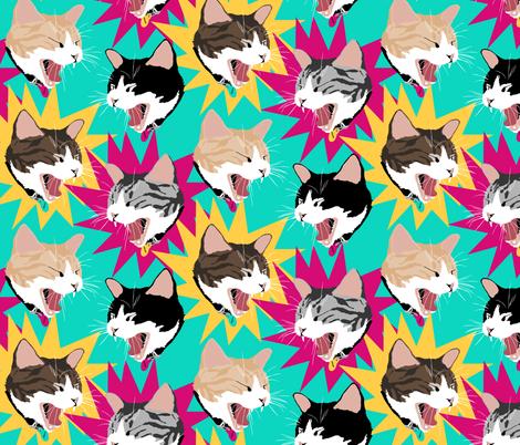 Big Yawn Bold Color fabric by pond_ripple on Spoonflower - custom fabric