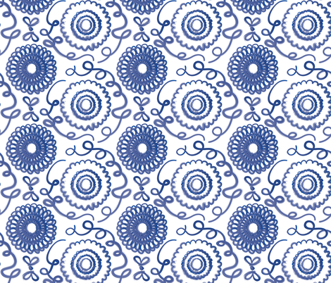 Brushed Floral fabric by jenflorentine on Spoonflower - custom fabric