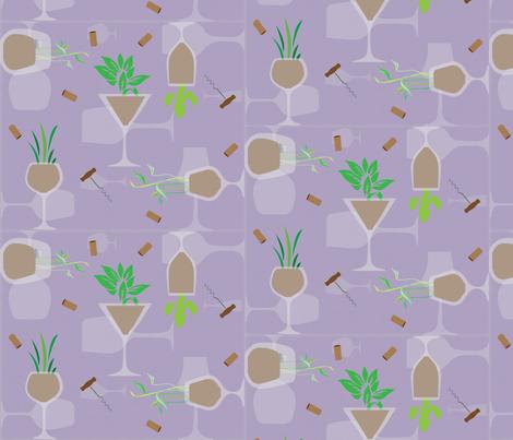 Uncork Nature!! fabric by kfrogb on Spoonflower - custom fabric