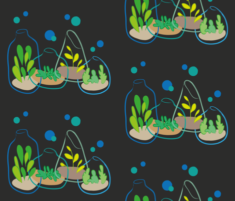 vivid terrariums fabric by something_light on Spoonflower - custom fabric