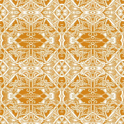 Butterscotch witha Twist or Two or Three or Twelve fabric by edsel2084 on Spoonflower - custom fabric