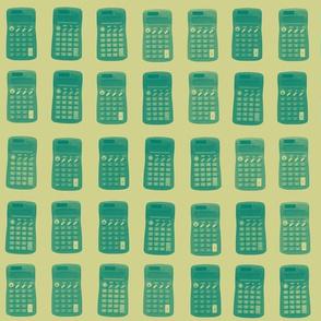 calculators - green gold