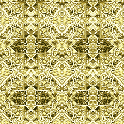 Love in a Golden Box fabric by edsel2084 on Spoonflower - custom fabric