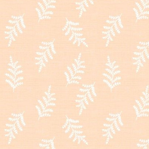 fern vintage botanical on apricot