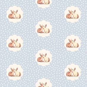 Bunny Love in Cream on Smokey Lilac