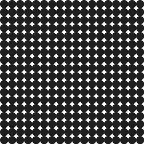 circles : black + white : small