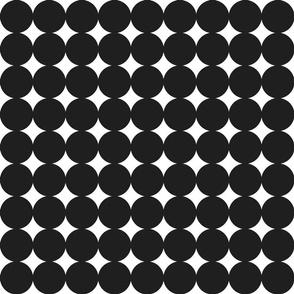 circles : black + white : medium