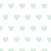 Hearts mint on white