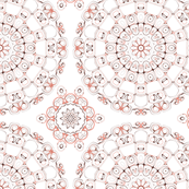 Elegant Peach & Mauve Ornamental Pattern Design