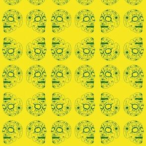 Inverted Sugar Skull yellow