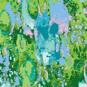 Green Floral Ikat