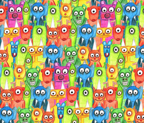 hi hi hi fabric by scrummy on Spoonflower - custom fabric