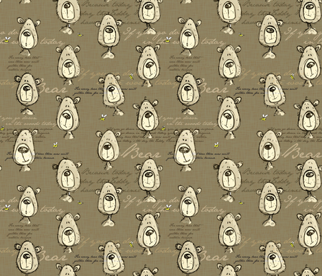 Teddy Bears' Picnic - light fabric by mulberry_tree on Spoonflower - custom fabric