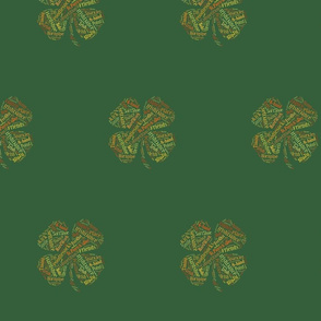 Irish Dance Clovers - 4inch