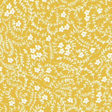Scattered (mustard) MED fabric by nouveau_bohemian on Spoonflower - custom fabric