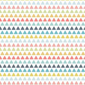triangles // multi colored