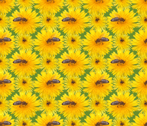 Important pollinators give us honey fabric by ruthjohanna on Spoonflower - custom fabric