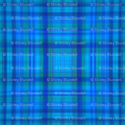 Blue dye plaid