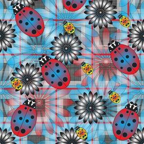 Lady_Bug_RY_Flower_Blue_Plaid