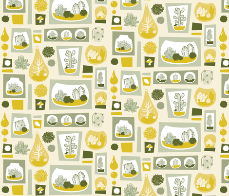 Terrariums fabric by jessica_phillips on Spoonflower - custom fabric