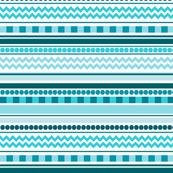 Ocean Blue Chevron, Checkers, Dots & Stripes