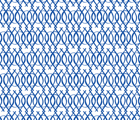 Blue and White fabric by jenflorentine on Spoonflower - custom fabric