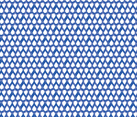 Blue Drops fabric by jenflorentine on Spoonflower - custom fabric