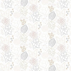 Subtle Succulents: Floral Print