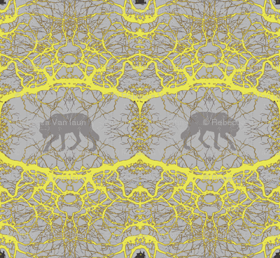 Fairy Tale Forest - Abstract Yellow large
