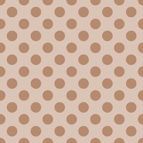 Cream Peach Polka Dots