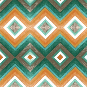 Earthy Chevron- Large