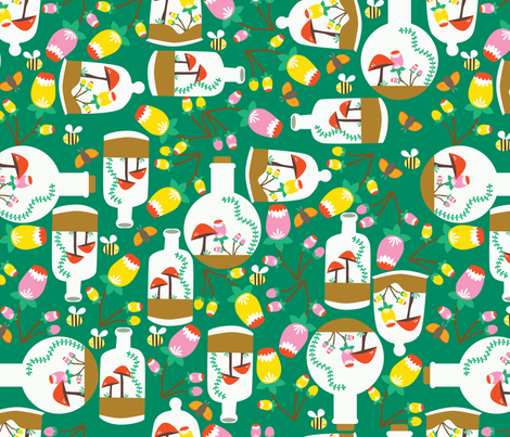 how does your garden grow fabric by oliveandruby on Spoonflower - custom fabric