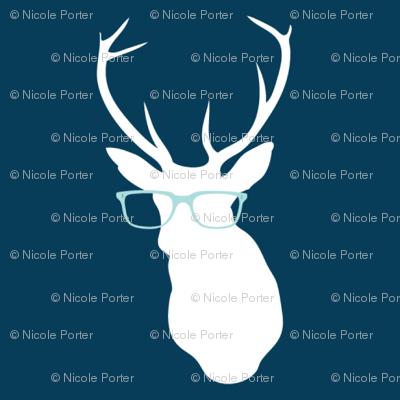 Smarty Pants Deer Small Print, Navy