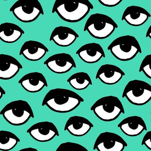 eyes // scary creepy eye fabric halloween design eyes print eye print pattern andrea lauren