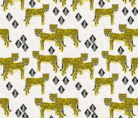 Safari Cheetah - Goldenrod by Andrea Lauren fabric by andrea_lauren on Spoonflower - custom fabric