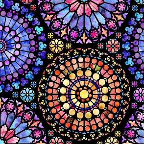 Painted Rose Windows (Multicolored - Large)