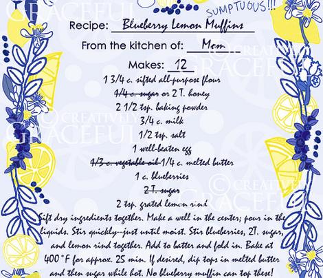 Blueberry Lemon Muffins Tea Towel
