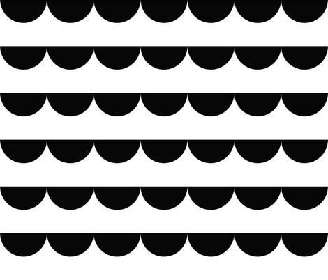 modern wave fabric by jen&co on Spoonflower - custom fabric
