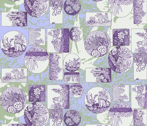 Tiny Terrariums in Purple Grande fabric by bloomingwyldeiris on Spoonflower - custom fabric