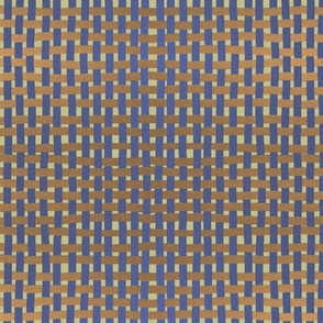 Basketweave: gold + muted purple by Su_G