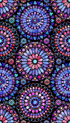Painted Rose Windows (Purple and Red - Large)