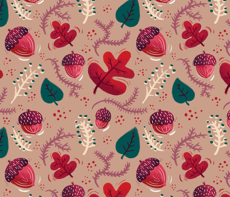 Nature Calls fabric by mackeymedley on Spoonflower - custom fabric