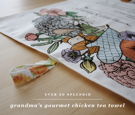 "Grandma's ""Gourmet Chicken"" Tea Towel"