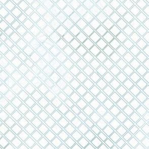 Offwhite Diagonal Crisscross Grid
