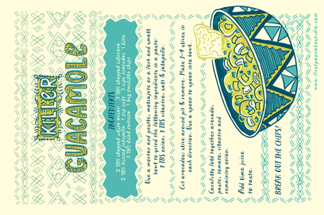 Killer Guacamole Tea Towl fabric by 1stpancake on Spoonflower - custom fabric