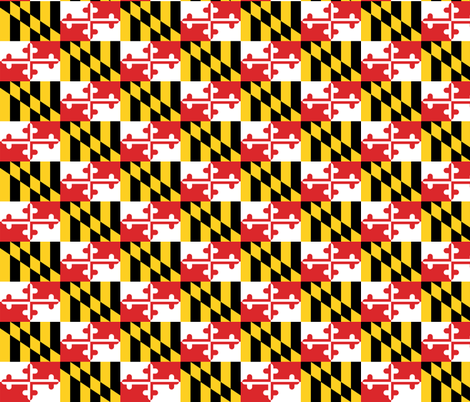 Maryland Flags - small fabric by elramsay on Spoonflower - custom fabric