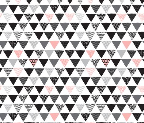 Geometric tribal aztec triangle pink modern patterns ...